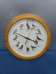 AUDUBON 13 SINGING BIRD CLOCK w/ 12 Popular North American Song Birds