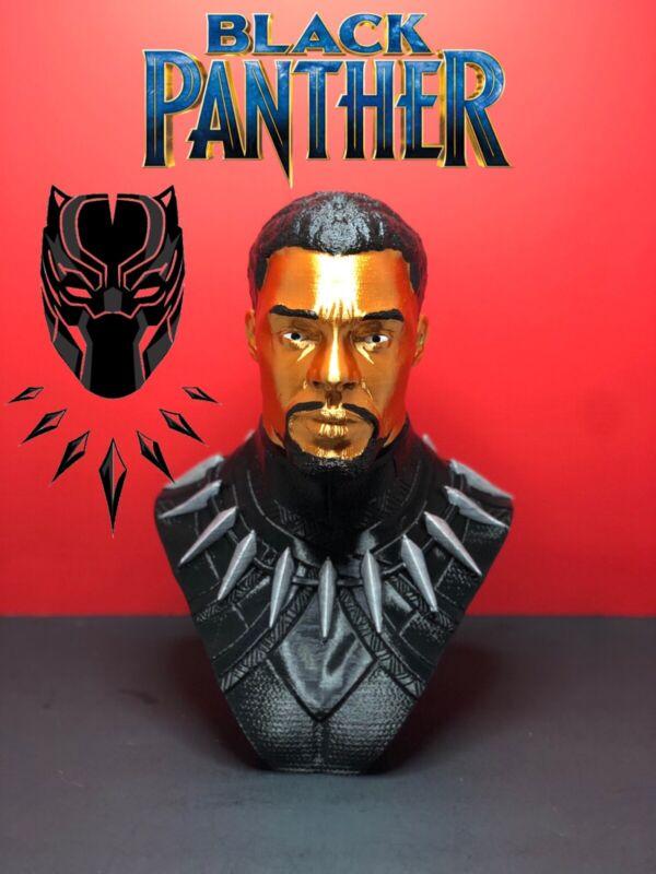 Black Panther Chadwick Boseman Bust Sculpture Statue