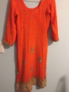 Orange Indian suit