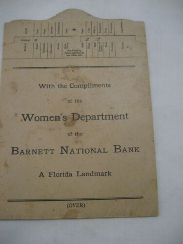 OLD 1922 BARNETT NATIONAL BANK WOMENS DEPT. RULES FOR CANDY MAKING  Free Ship