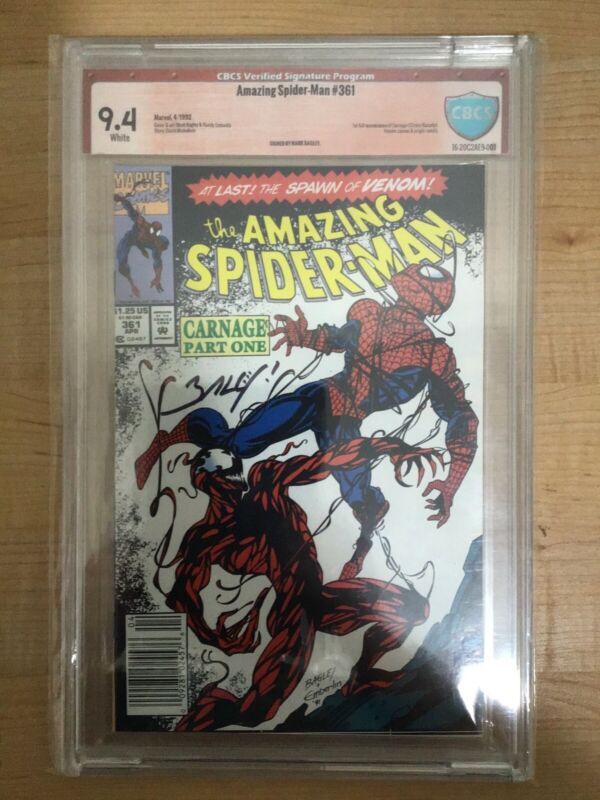 Amazing Spider-Man #361-363 1st Carnage Appearance Signed by Artist Mark Bagley