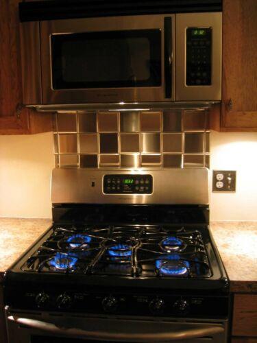 4x4 Stainless Steel Tiles Kitchen Backsplash Tile