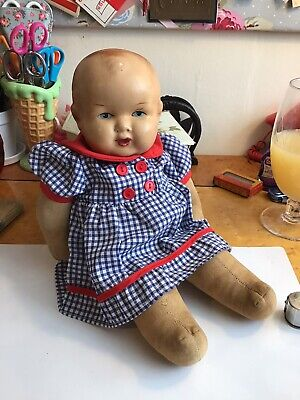 Vintage Very Sweet 1930s Baby Doll Composition Head Soft Body Pat No 35