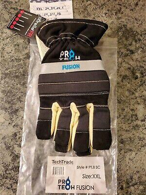 Pro-tech 8 Fusion Firefighting Short Cuff Gloves Size Xxl New Black
