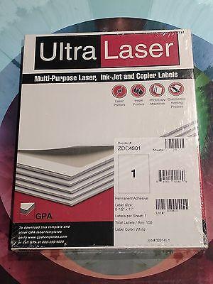 400 Ultra Laser Full Sheet Labels 8.5 X 11