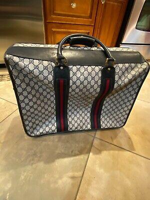 Vintage Gucci Web Monogram Black Folding Garment Travel Bag RARE!!!!!
