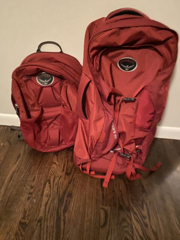 Osprey Farpoint 55 Gallon Travel Backpack - M/L Red