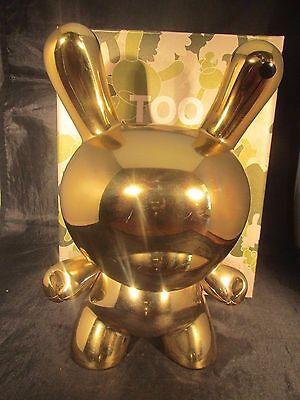 """Kidrobot Too Many Cell Phones: Gold Edition 8"""" Dunny 18/333, used for sale  Shipping to India"""