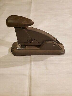 Vintage Tan Swingline 3 Speed Stapler Long Island Ny 1950s Industrial Gray
