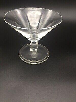 6 coupes à champagne en cristal . Mod MAJOR  .H: 100 mm. VAL SAINT LAMBERT