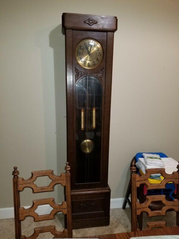 All original Gustav Grandfather Clock Circa 1900