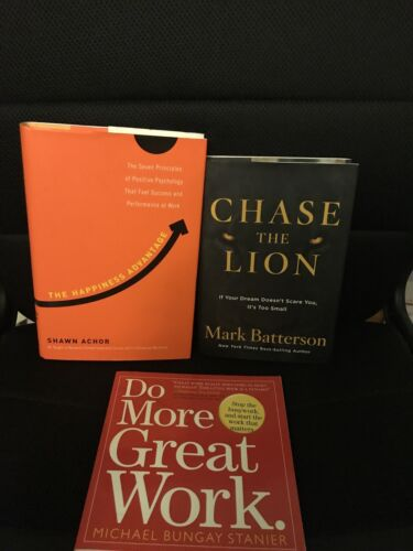 The Happiness Advante/ Chase The Lion / Do More Great Work 3 Book Bundle - $13.00