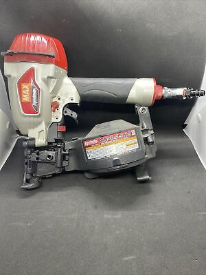 Max Super Roofer Cn445r3 15 Degree Pneumatic Coil Roofing Nailer Works Great