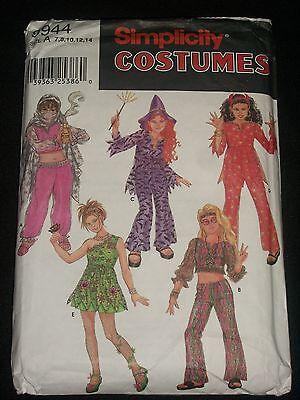Simplicity Halloween Costumes 9944 Genie Diva Hippie Witch Devil Flower Girl  (Halloween Divas)