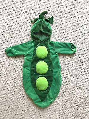 Miniwear peapod Halloween costume size 0-9 months, green bunting, baby boy girl