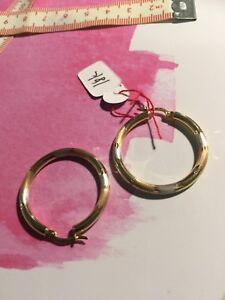 New 3-colour 18k large hoop earrings (white, rose and yellow )