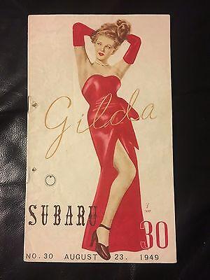 Gilda1949 Japanese Herald Movie Poster Rita Hayworth Glenn Ford Program Book