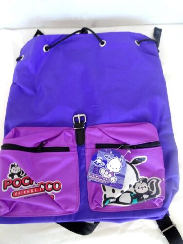 1998 VINTAGE Pochacco friends forever Sanrio Backpack purple brand new with tag