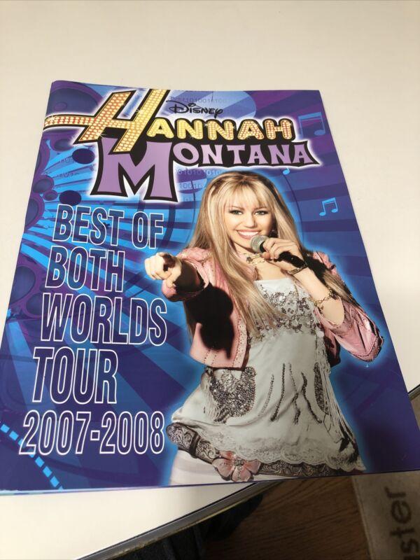 Miley Cyrus & Hannah Montana Best of Both Worlds Tour 2007-2008 Concert Program