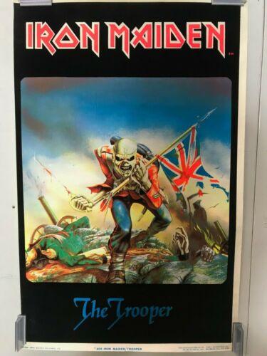 Iron Maiden Trooper 806 Vintage  Blacklight Poster 23 x 35 Rare Original 1984