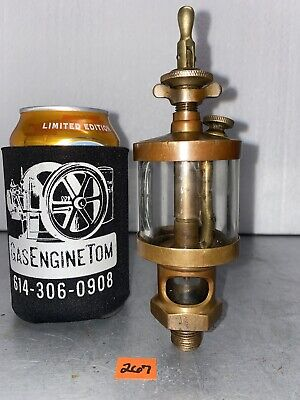 American Lubricator Co. 2 Brass Oiler Hit Miss Gas Engine Vintage Antique Steam