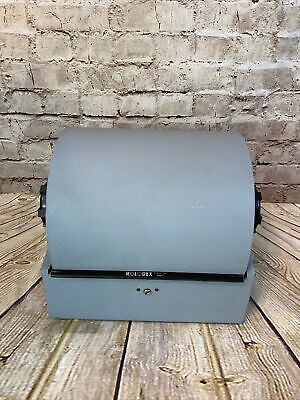 Vintage Rolodex Metal Double Rotary Desk Card File 3500-t Blank Cards No Key