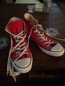 Converse hi top size 10 worn twice