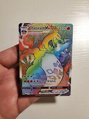 Pokemon Champion's Path Charizard VMAX Rainbow Rare (Secret) 074/073 (In-Hand)