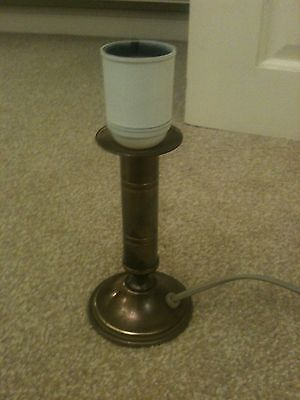 """VINTAGE 6"""" BRASS LAMPSTAND"""