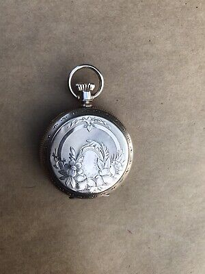 1800s  Elgin SOLID Yellow Gold Hunter Case Pocket Watch Adjusted  -