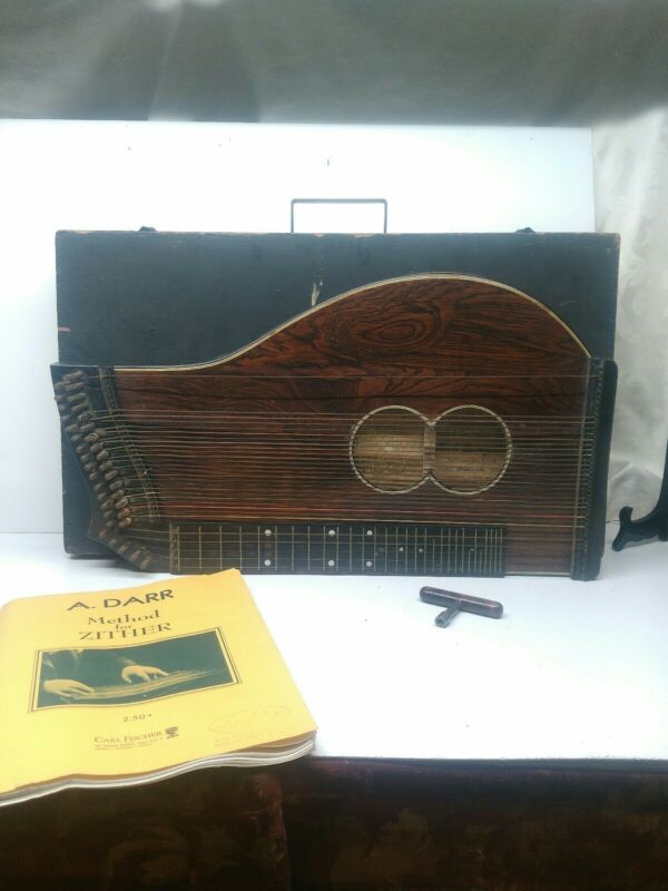 Antique German Concert Zither Harp 1891?