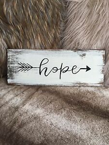 Handmade Hope Sign