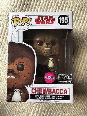 Funko Pop Star Wars Chewbacca Flocked Fye Exclusive