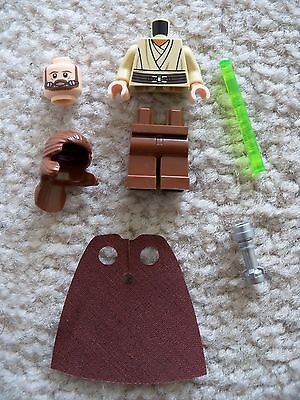 LEGO Star Wars - Rare - Qui Gon Jin w/ Lightsaber (Re-breather) From 9499 - New - Qui Gon Jin Lightsaber