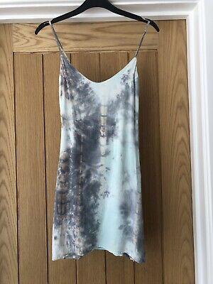 Topshop Honey Punch Slip Tye Dye Dress Size XS