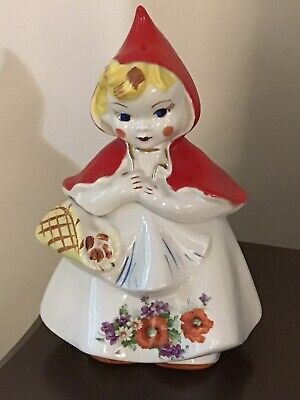 Very RARE HULL LITTLE RED RIDING HOOD ORIGINAL COOKIE JAR - EUC