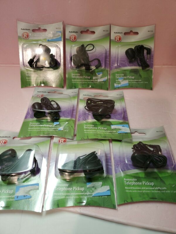 8 NEW Radio Shack 44533 Removable Telephone Pickups