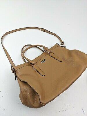 Coach F35185 Morgan Satchel/Shoulder Bag in Pebble Leather Brown