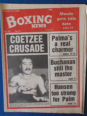 Boxing News Magazine   24 10 80   Gerrie Coetzee Cover