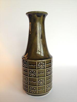 J. H. Wood Burslem Vintage Green Vase Mid Century Retro