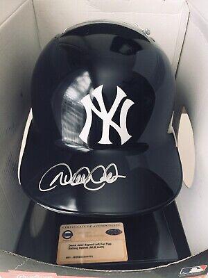 Derek Jeter Signed Autograph Major League Baseball Helmet MLB, Steiner COA Derek Jeter Autographed Mlb Baseball