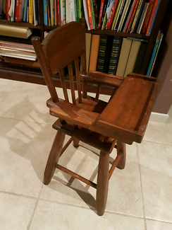 Gorgeous sturdy wooden handmade kids toy high chair