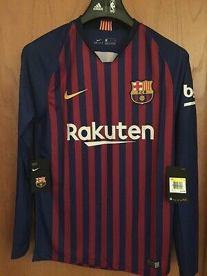 Nike 2018/2019 FC Barcelona Home Long-Sleeve Jersey 919061-456 U.S Men S-M $125 Barcelona Home Long Sleeve