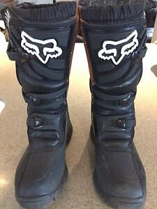 FOX Comp youth dirt bike MX boots Size 4