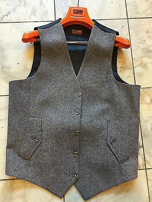 NWT Steven Land Casual Dress Multi Color  Men's Vest  100% Wool  Size 40