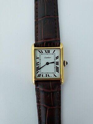 Cartier Vintage mens watch tank mechanical manual wind