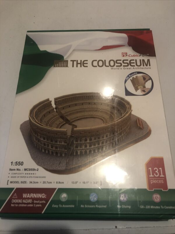 131 Piece 3D Puzzle Model Kit - Roman Colosseum Puzzle