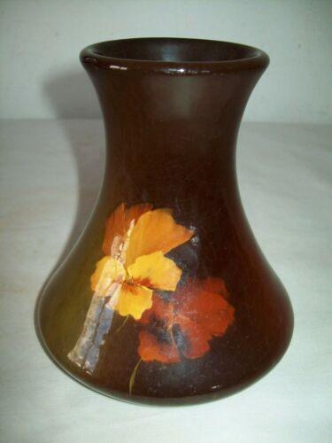 "Vintage J.B.Owens Utopian art pottery floral  vase  6"""