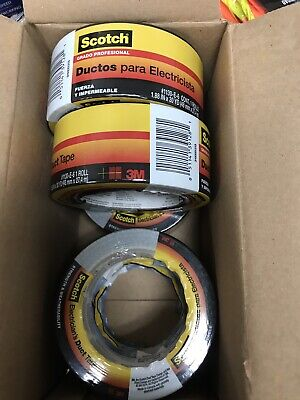 5 Rolls 3m Scotch Electricians Duct Tape 2 In X 30 Yds Gray Pro Grade