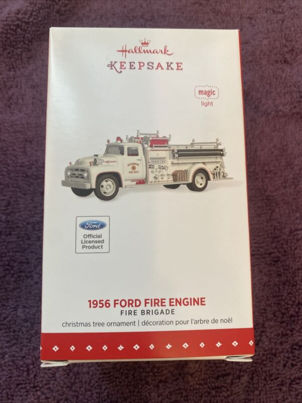 Hallmark 2015 Keepsake 1956 Ford Fire Engine Greenwood Indiana brigade A15